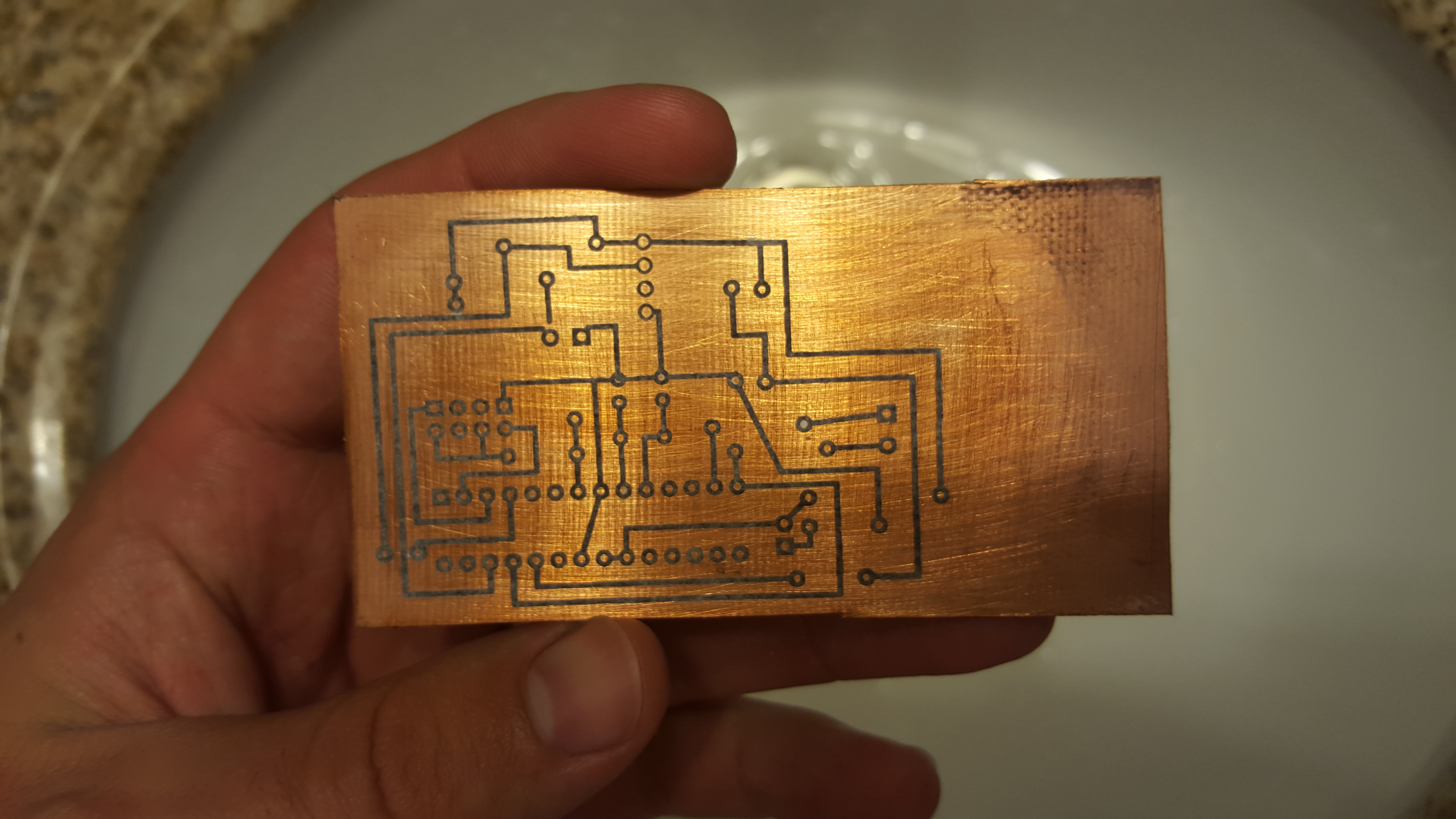 How To Make A Custom Pcb Your Arduino Projects Permanent Diy Lab Equipment Etch Own Circuit Boards Using Laser We Are Now Ready The Copper Away You Will Need Some Kind Of Plastic Container I Used Got From Dollar Store Do Not Use Anything